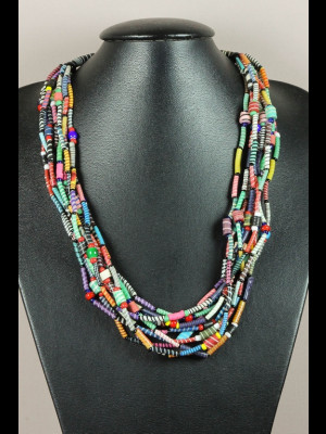 Necklace in recycled plastic