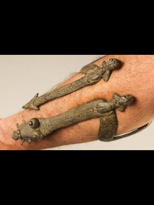 Gan arm bracelet in bronze (Burkina Faso)