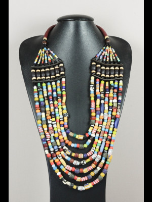 """""""Maasai"""" necklace with glass beads"""