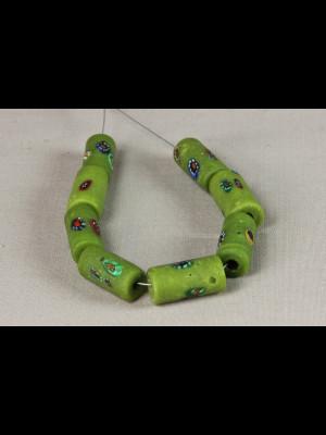 8 rare antique millefiori trade beads