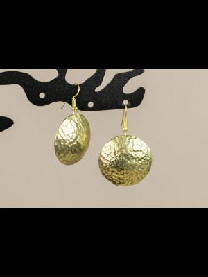 Earrings in brass