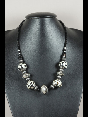 Necklace with bone beads