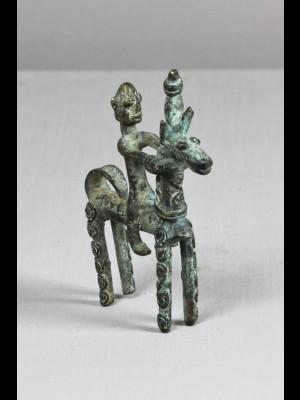 Horse rider in bronze