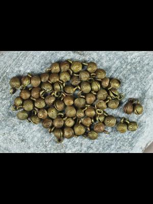 """58 """"grelot"""" brass beads"""