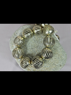 15 big brass beads